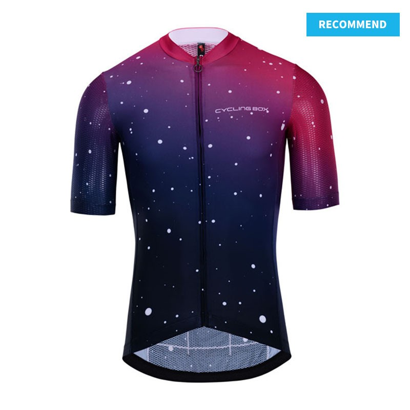 Club Short Sleeve Cycling Jersey StarrySky - recommend template