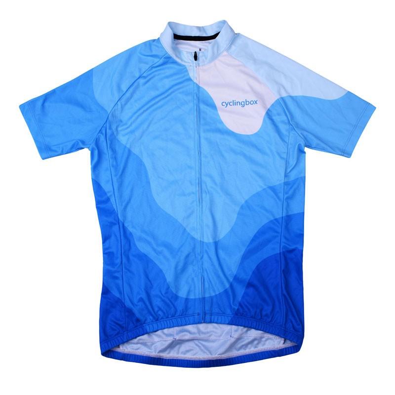2016 Mens Short Cycling Jersey Beginner Bluesky