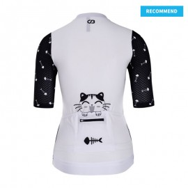 RACE Short Sleeve Cycling Jersey Womens Cat and fish - recommend template