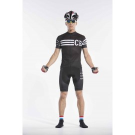 2016 Mens Black Cycling Kits Race Star and Stripe