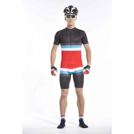 2016 Mens Black Cycling Outfit Race Cabri