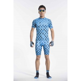 2016 Mens Blue Cycling Jersey Shorts Set Race Mystery
