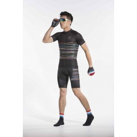 2016 Mens Black Cyclist Outfit Race Mystic