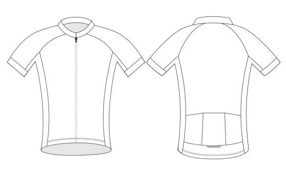 Custom cycling jersey blank template