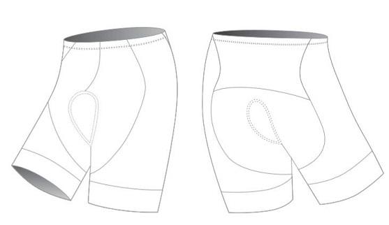 Custom cycling shorts blank template