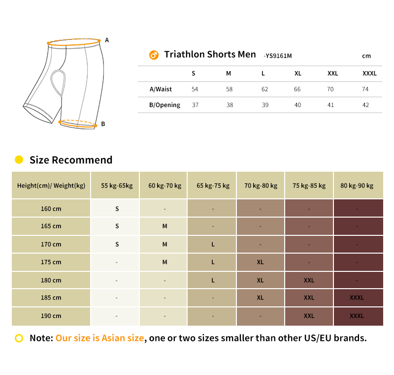 custom tri bottoms size chart