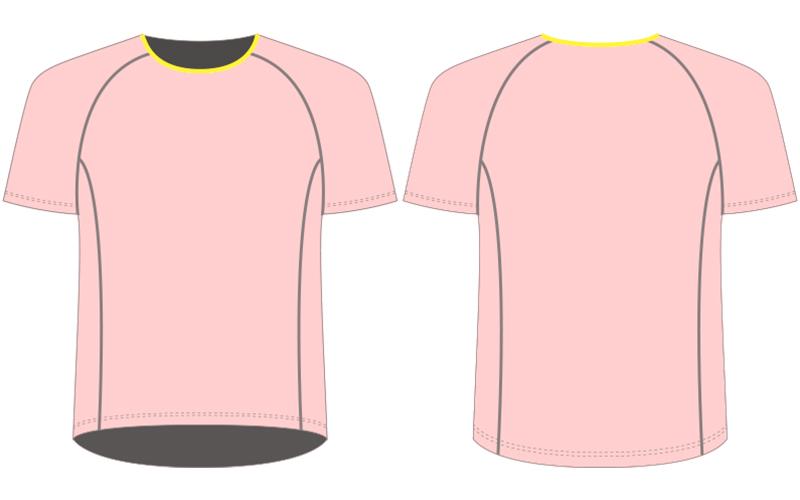 Custom running shirts template