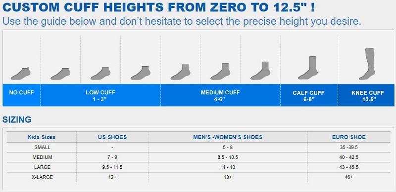 running socks size