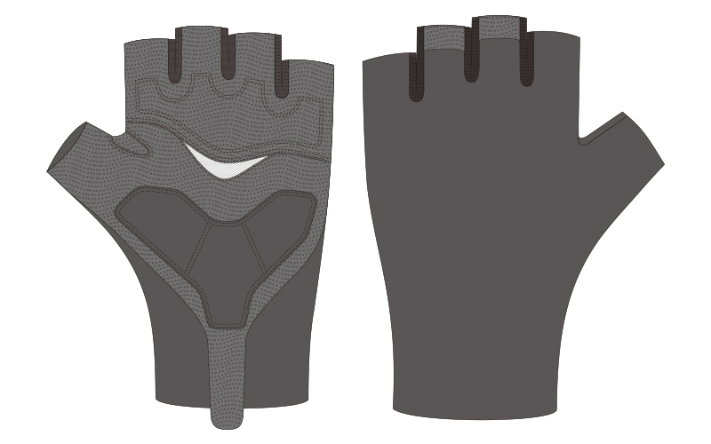 custom bike gloves template