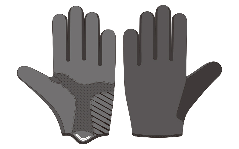 custom cycling gloves template
