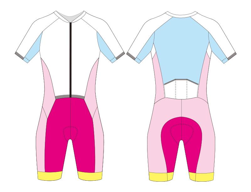 Custom cycling skinsuit blank template