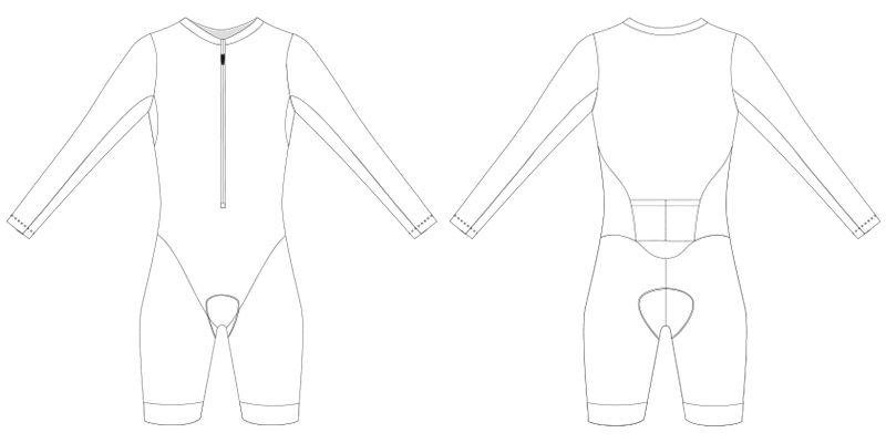custom triathlon suit blank template