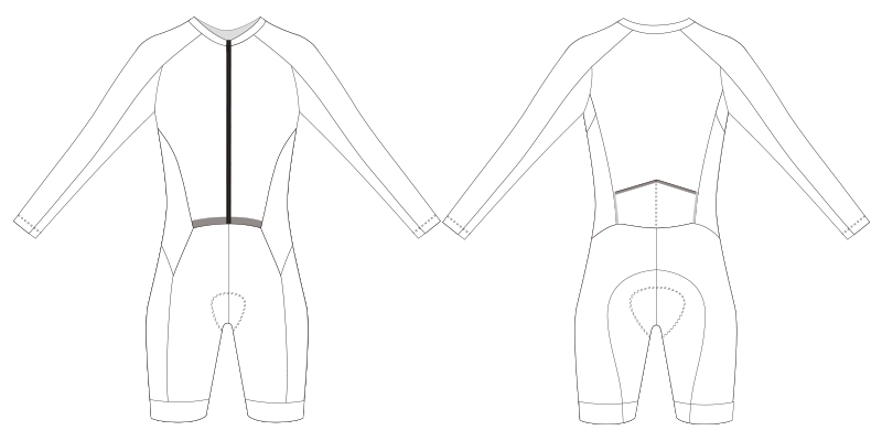 Custom cycling skinsuit blank template