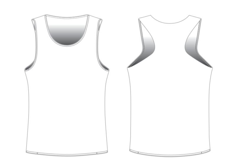 Custom Running Tech Tank Tops Blank Template