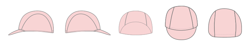 personalised cycling cap template